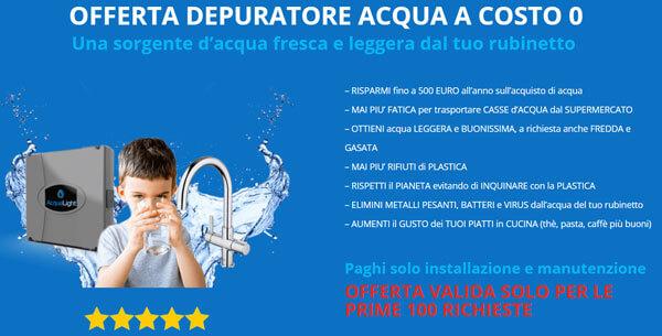 offerta depuratore acqua a costo 0